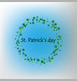 background with green clover leaves with space for vector image