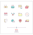 Basic Line Icons Set vector image vector image
