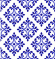 blue and white tile pattern seamless vector image vector image