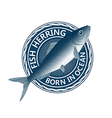 blue fish herring vector image vector image