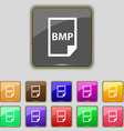 BMP Icon sign Set with eleven colored buttons for vector image vector image