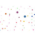 bright rainbow background shot of party popper vector image