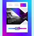 brochure design for business vector image vector image