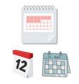calendar and mark symbol vector image