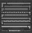 calligraphic corner borders frames on chalkboard vector image vector image