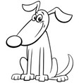cartoon dog animal character coloring book page vector image vector image