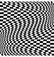 checkered chequered pattern with wavy distortion vector image vector image