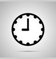 clock face showing 9-00 simple black icon on vector image vector image