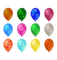 color set glossy balloons with a picture in the vector image vector image