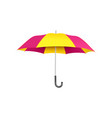 colorful purple and yellow open umbrella with vector image vector image