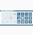 Contacts social icons - set web and mobile 01