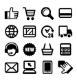 e-commerce business icons set vector image vector image