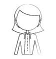 elegant businesswoman avatar character vector image