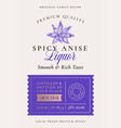 family recipe anise spice liquor acohol label vector image