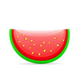 flat icon slice of watermelon vector image vector image