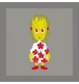 flat shading style icon zombie woman vector image vector image