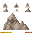 hills and mountains cartoon set vector image vector image