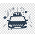 icon travel by taxi silhouette vector image vector image