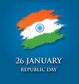 india republic day greeting card design 26 vector image