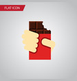 isolated chocolate bar flat icon shaped box vector image vector image