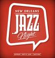 Jazz Label vector image vector image