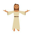jesuschrist cute cartoon vector image vector image