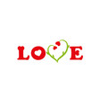 lettering love greeting card vector image vector image