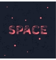 Logo space with trend vintage style scratched flat vector image vector image