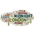 london after midnight text background word cloud vector image vector image