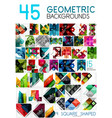 mega collection of geometric abstract background vector image vector image