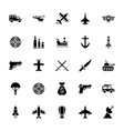 military services icons vector image