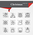modern of thin line icons set for holiday vector image vector image