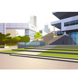 modern office building stairs exterior view over vector image vector image