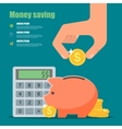Money saving concept in flat vector image
