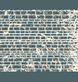 part of the castle wall vector image vector image