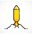 pencil run as rocket back to school concept vector image vector image