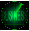 Radar screen with the word Business vector image vector image