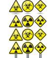 Radiation sign radiation symbol set vector image