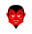 red devil funny demon satan with horns crafty vector image vector image