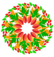 round ornaments pattern autumn leaves vector image