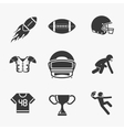 Rugby and american football icons vector image