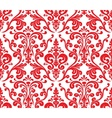 Seamless elegant damask pattern Red and white vector image vector image