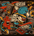 seamless graffiti background vector image vector image