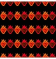 Seamless pattern of strawberries painted by hand vector image vector image