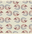 seamless pattern with nautilus brown gray beige vector image