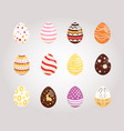 set easter eggs collection of vector image vector image