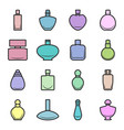 set of different multi-colored perfume bottles in vector image vector image