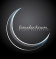 shiny moon background vector image vector image