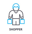 shopper thin line icon sign symbol vector image