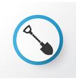 shovel icon symbol premium quality isolated vector image